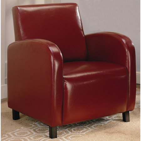 Astounding A Line Furniture Curved Arm Red Upholstered Accent Chair Ibusinesslaw Wood Chair Design Ideas Ibusinesslaworg