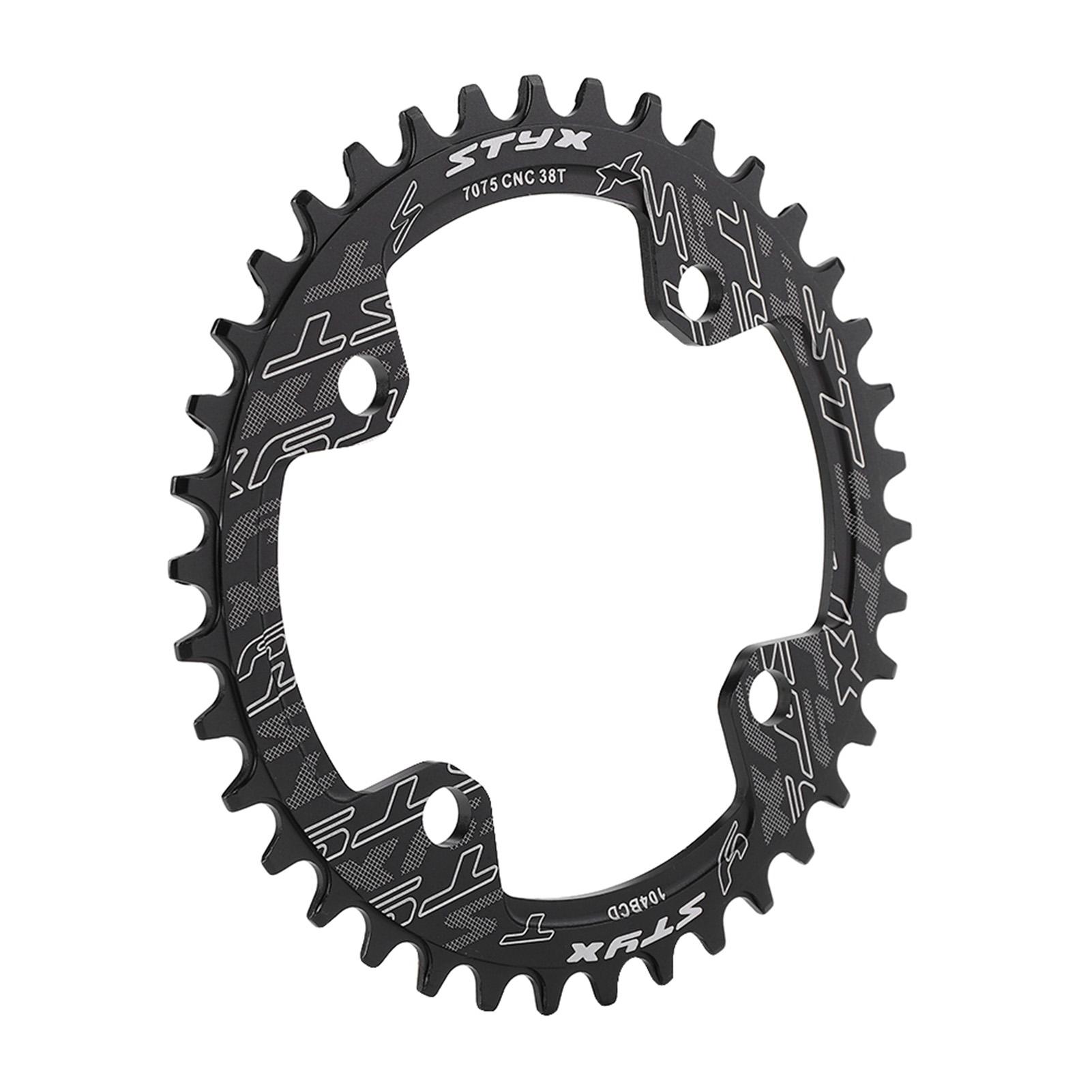 Keenso Bike Chain Ring 32//34//36//38T BCD Aluminum Alloy Mountain Bike Steel Single Crank Chain Ring Round Gear Bicycle Chain Ring for Mountain Bike Repairing