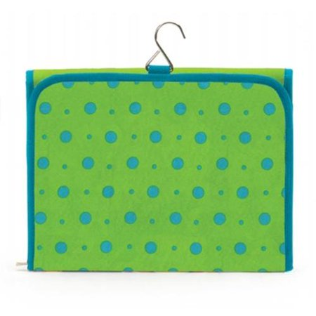 Joann Marie Designs Hcbltd Hanging Cosmetic Bag   Lime With Turquoise Dots Pack Of 2