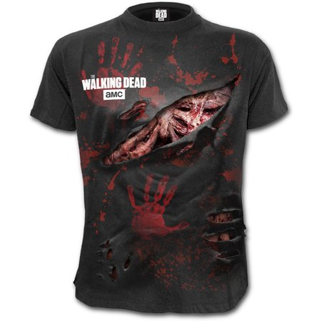 Spiral Direct CottonThe Walking Dead |Rips |Blood |Zombie - Halloween Zombie Ripped Clothes