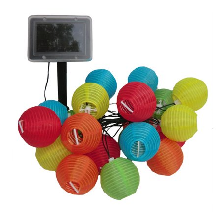 Smart Solar Light String, 20ct, Chinese Lanterns