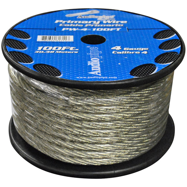 Audiopipe PW4100SL Power Wire Audiopipe 4ga 100' Silver