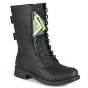 Women's Lace Up Side Zip Boots