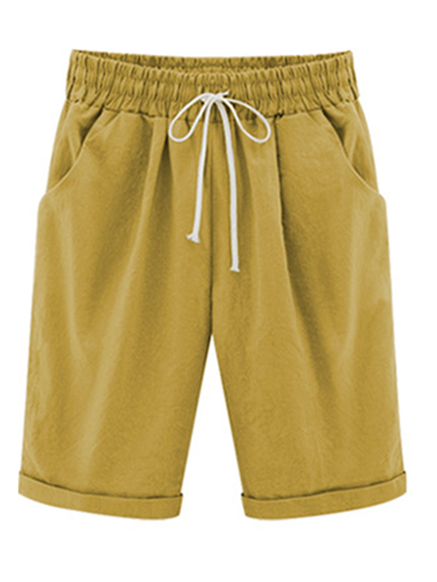 Funic Womens Plus Size Pants Mid Waist Lace Hot Shorts Elastic Sports Trousers Trunks