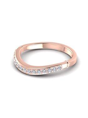 0.20CT Round Cut Diamonds Wedding Bands