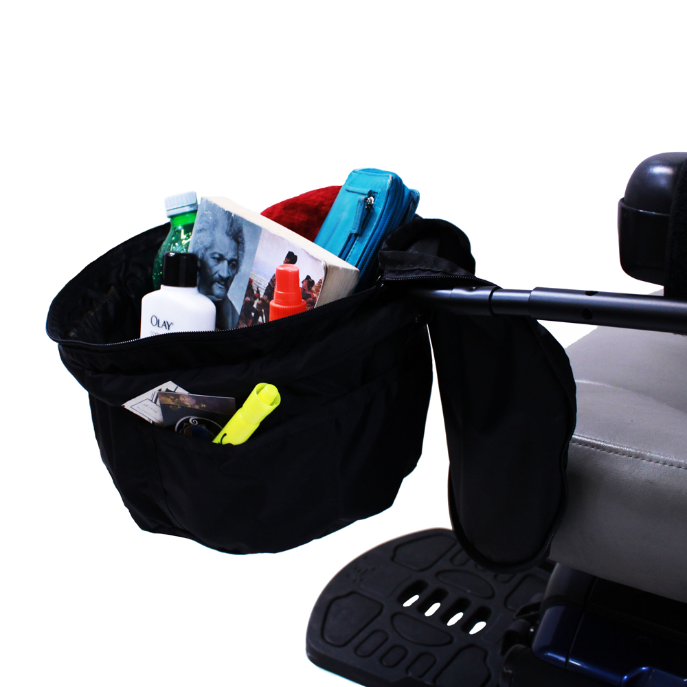 """Front Zippered Bag for Power Chairs, Scooters, and Wheelchairs 7"""" x 12"""""""