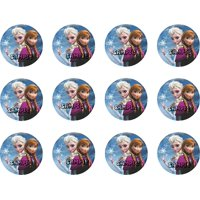 "Disney Frozen Anna And Elsa 2"" Cupcake Edible Cake Image Toppers"
