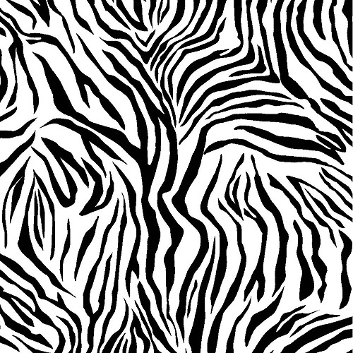 "Creative Cuts Fleece 60"" wide, 1.5 yard cut fabric, Zebra"