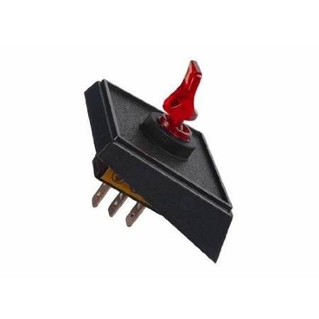 JT&T Products (2982F) - 20 AMP @ 12 Volt - S.P.S.T., Illuminated On/Off Red Duckbill Switch in Panel Mount Combination