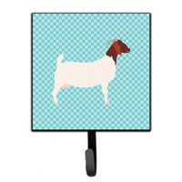 caroline's treasures boer goat blue check wall hook small multicolor