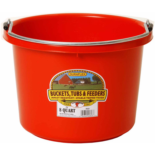 Miller Manufacturing 8qt Red Plastic Buckets
