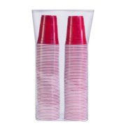 Red Cup Cold Plastic Party Cups 16 Ounce 100 Pack