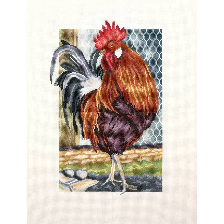 Rooster Of The Walk Counted Cross Stitch Kit, 6.75