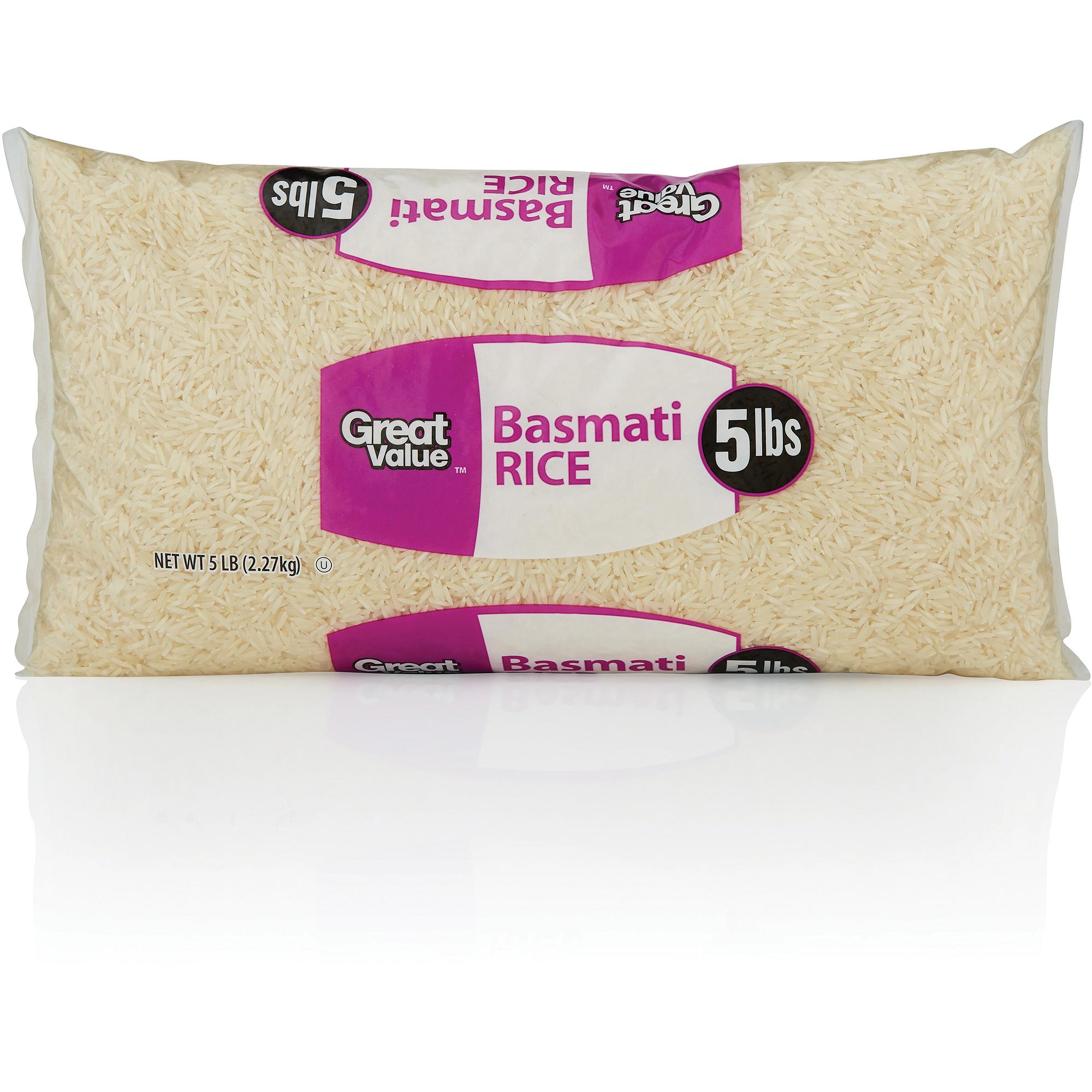 Great Value Gv Basmati Rice 5lb
