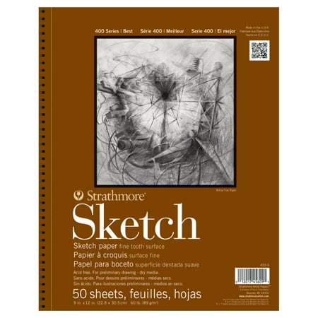 Strathmore Sketch Paper Pad, 400 Series, 9in x 12, 50 Sheets