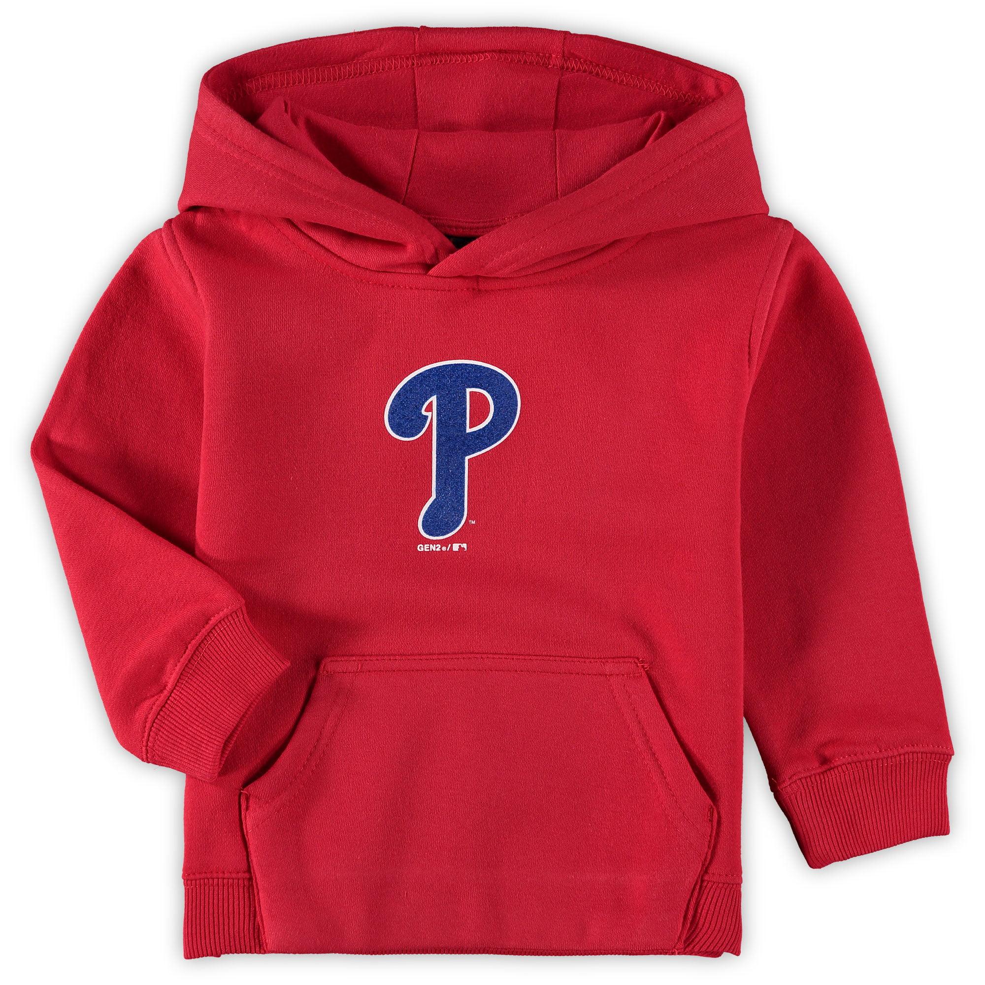 Philadelphia Phillies Toddler Primary Logo Fleece Pullover Hoodie - Red