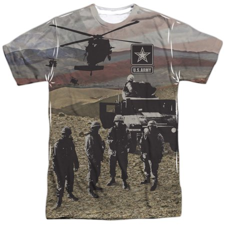 United States Armed Forces Army Desert Storm Humvee Adult 2-Sided Print T-Shirt - Desert Army