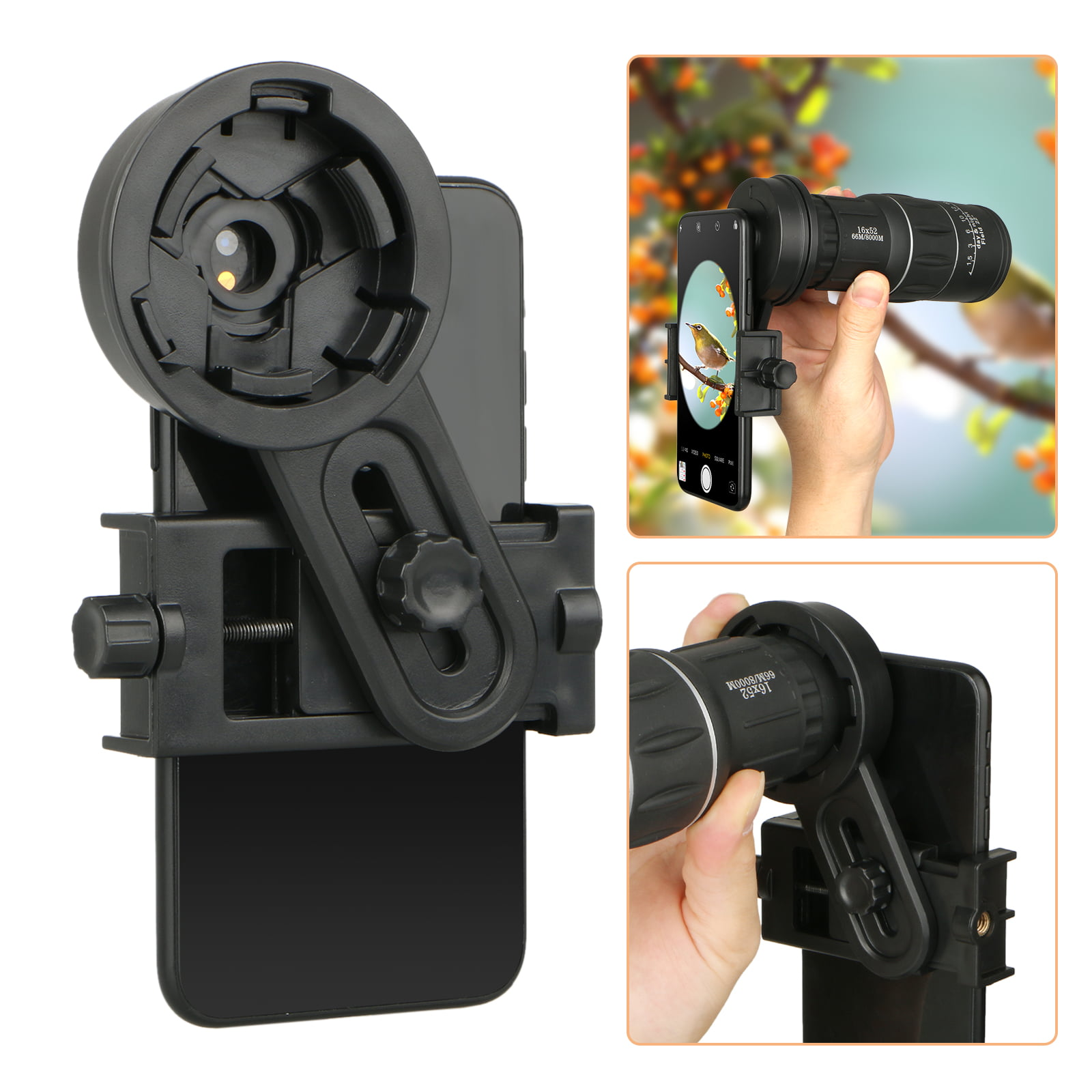 2 Pieces Universal Cell Phone Smartphone Quick Photography Adapter Mount Connector for Telescope Binoculars Monocular Spotting Scope Microscope /& and with Cell Mobile Phone