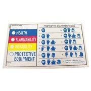BADGER TAG & LABEL CORP 107 HMIG Label,5 in. W x 3 in. H,PK25