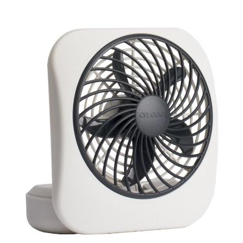 O2COOL 5 Battery Operated Portable Fan in WHITEGREY