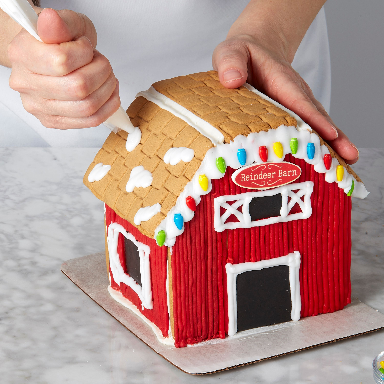 Wilton Ready To Decorate Santa S Farm Gingerbread Barn