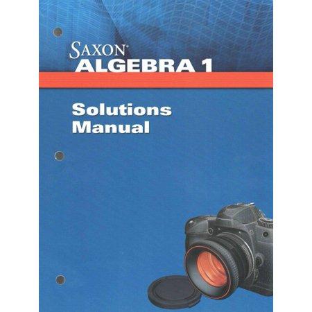 Saxon Algebra 1 Solution Manual - Walmart.com