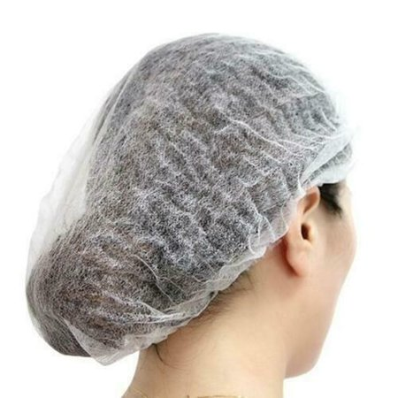 Thickened Protective Hat Beauty Salon Hat Mushroom Non-Woven Dust-Proof Clear Headgear - image 3 of 5