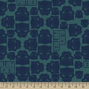 Marvel Black Panther Packed Masks Flannel Fabric by the Yard
