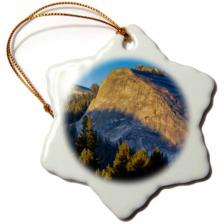 3dRose Lembert Dome, Yosemite, California, USA - US05 MWI0012 - Mark Williford, Snowflake Ornament, Porcelain,