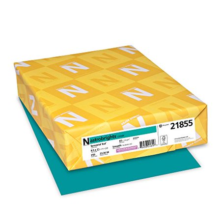 "Colored Card Stock (Astrobrights Colored Cardstock, 8.5"" x 11"", 65 lb/176 gsm, Terrestrial Teal, 250 Sheets)"