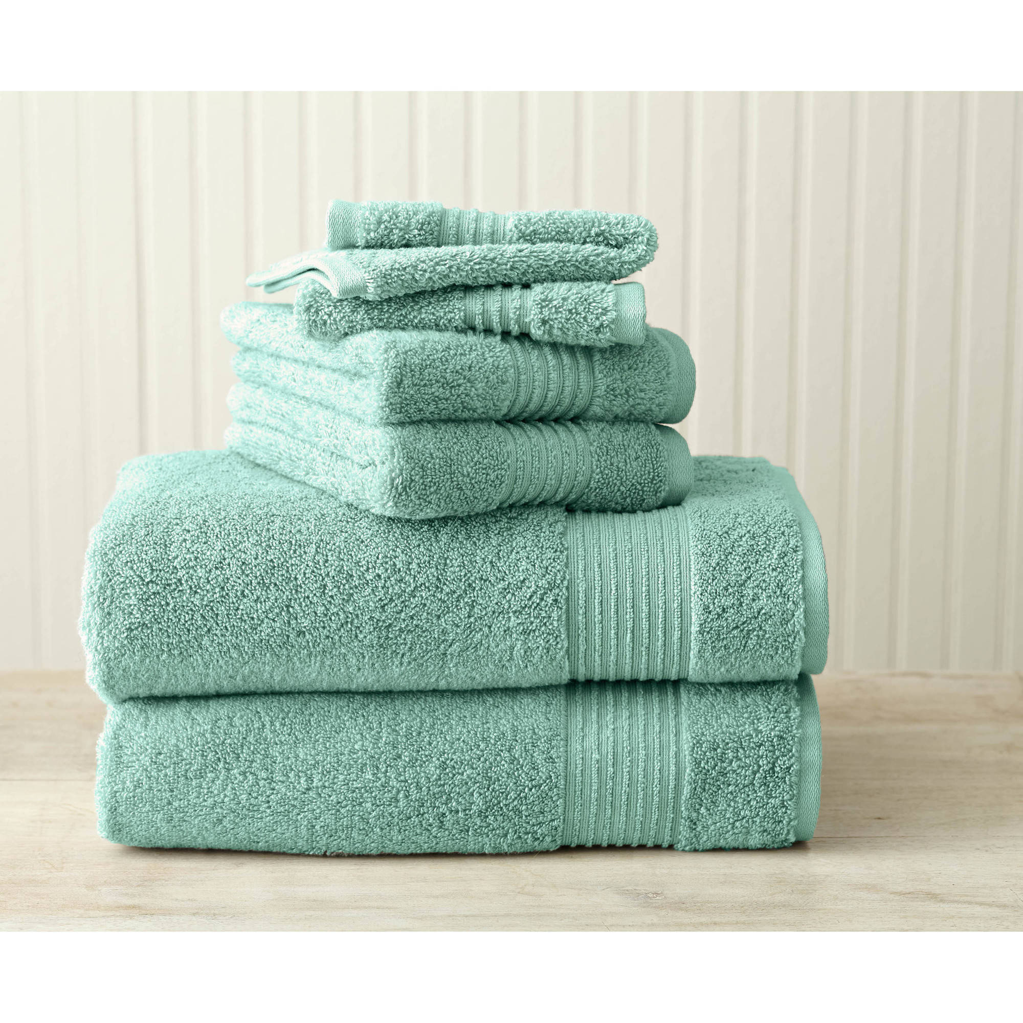 Better Homes and Gardens Extra Absorbent 4-Piece Texture Towel Set, Teal Topaz by Welspun India Limited