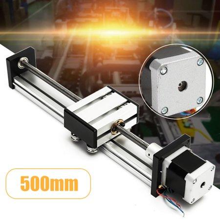 CNC Linear Motion Lead Screw Slide Stage 500mm Stroke Actuator + Stepper  Motor