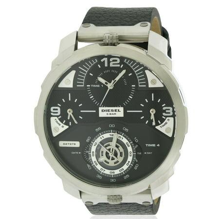 Diesel Leather Watch (Diesel Machinus Leather Mens Watch)