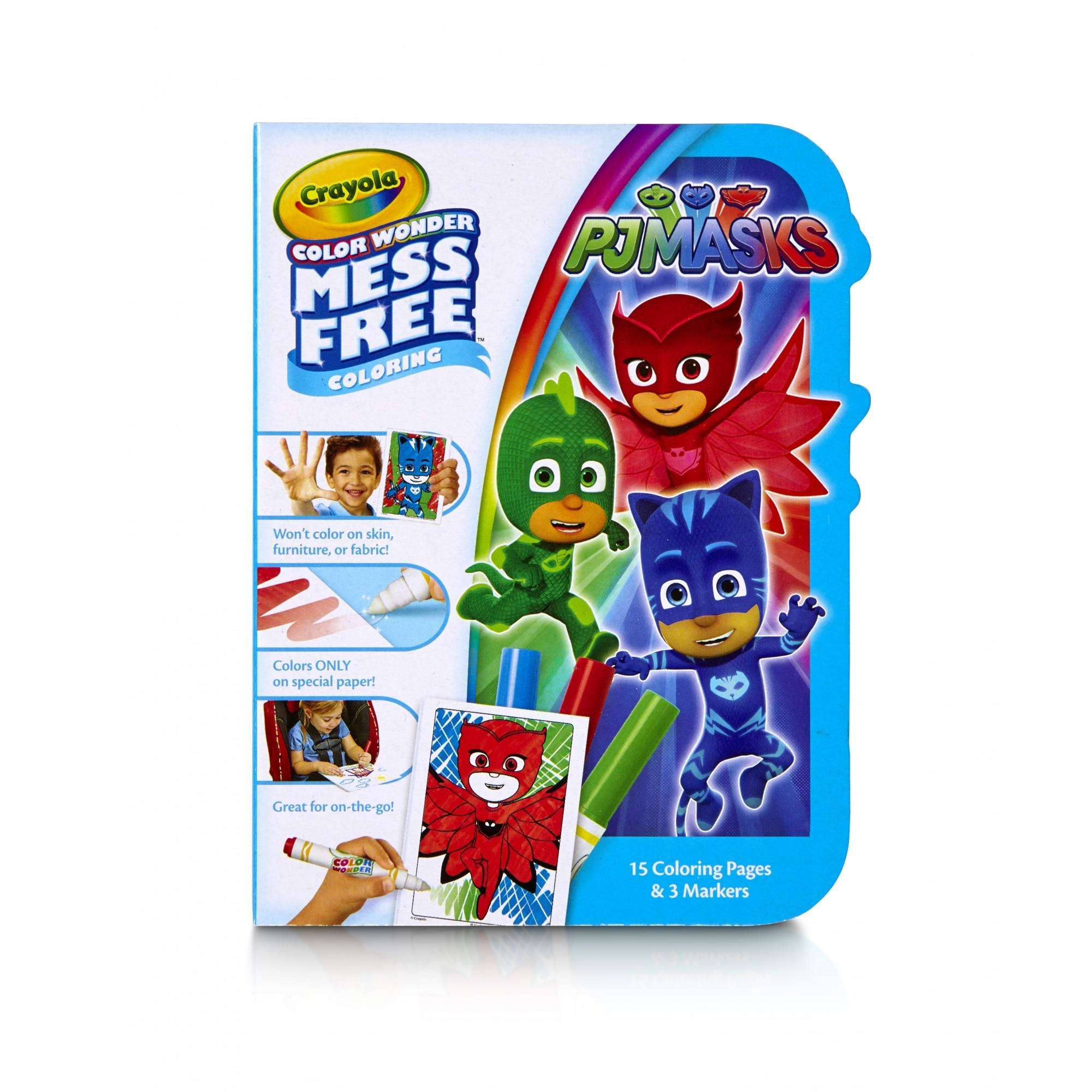 Crayola Color Wonder PJ Masks Color on the Go, 15 Coloring Pages, 3 Markers by Crayola