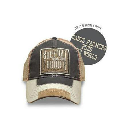 Farm Boy Support Your Local Farmer Cap, Khaki, OSFA - Farmer Hat