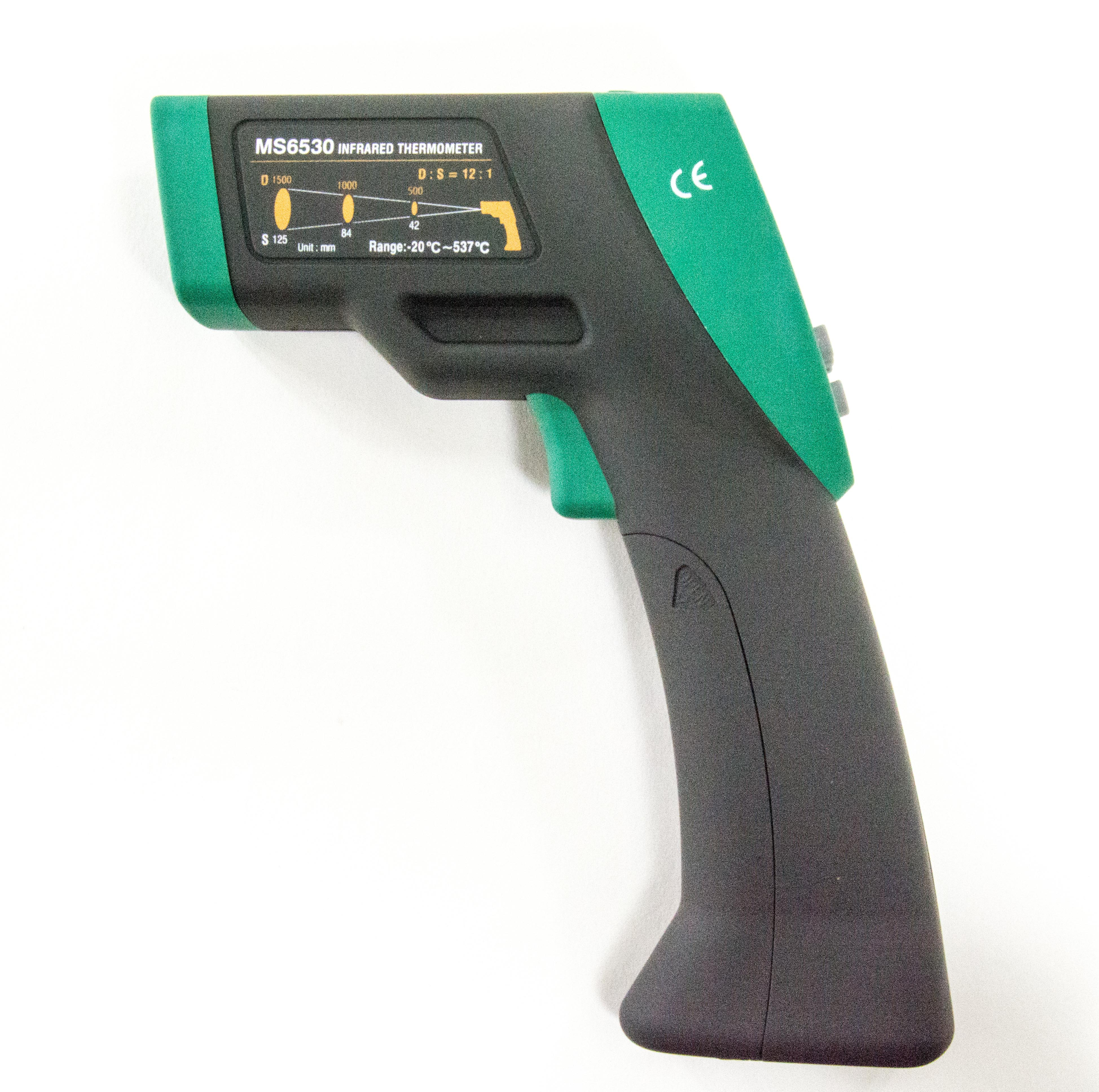 Mastech MS6530 Infrared Thermometer (IRT), 12:1 (D:S), -2...