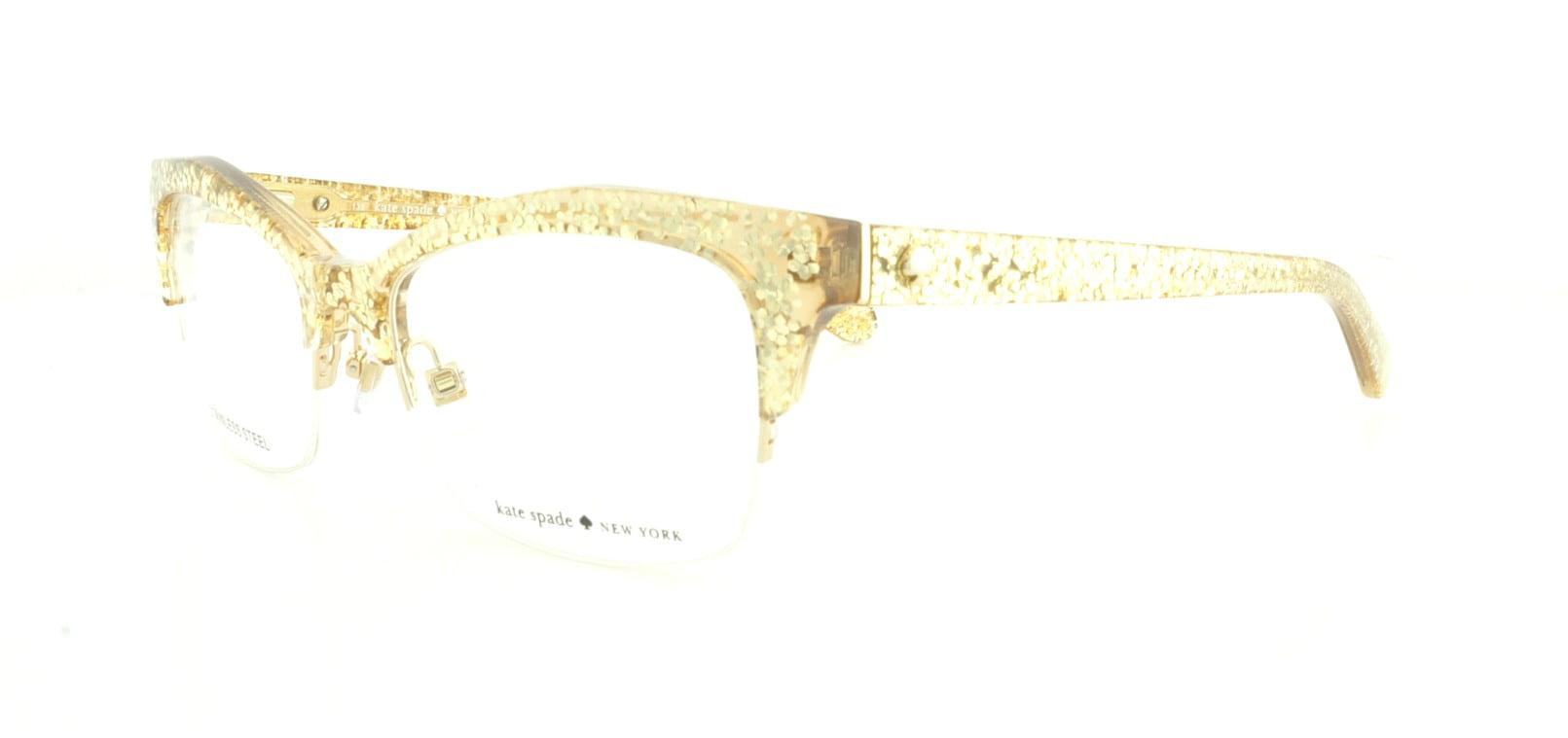 KATE SPADE Eyeglasses LYSSA 0W51 Gold Glitter 49MM - Walmart.com
