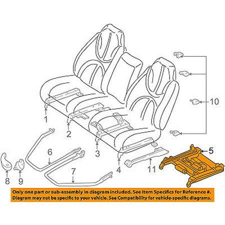 Dodge Track Bar (Dodge CHRYSLER OEM 01-03 Durango Seat Track-Seat Track 5066168AA )