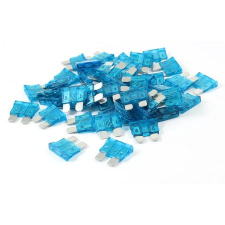 Unique Bargains 50 Pieces Plastic Housing 15A Vehicle Car Auto Fuses Blue - image 1 of 1
