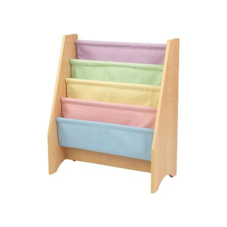 KidKraft Wood & Canvas Sling Shelf Kids Book Case Shelf - Pastel   14225