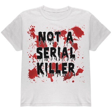 Halloween Not a Serial Killer Blood Splatter Youth T Shirt