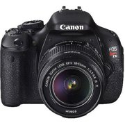 "Canon EOS Rebel T3i Black 18MP DSLR Camera, EF-S 18-55mm 1:3.5-5.6 IS II Lens, 3.0"" LCD, EOS Full HD Movie Mode"