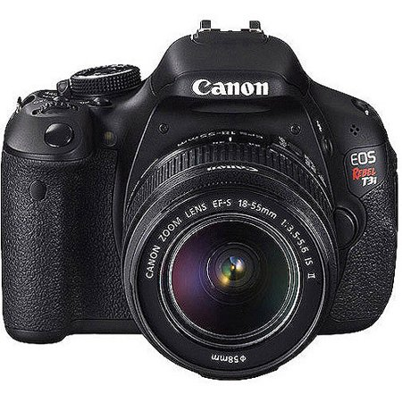 Canon EOS Rebel T3i Black 18MP DSLR Camera, EF-S 18-55mm 1:3.5-5.6 IS II Lens, 3.0