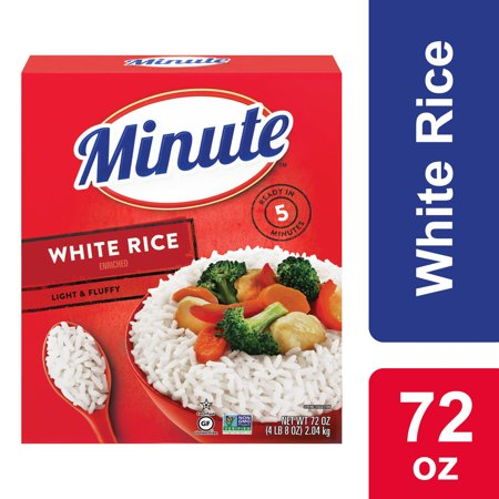 Minute White Rice, Instant White Rice, Light & Fluffy Quick Rice, 72 oz