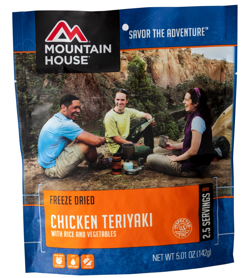 Mountain House (6 Pack) Chicken Teriyaki with Rice Main Entree Pouch by Mountain House