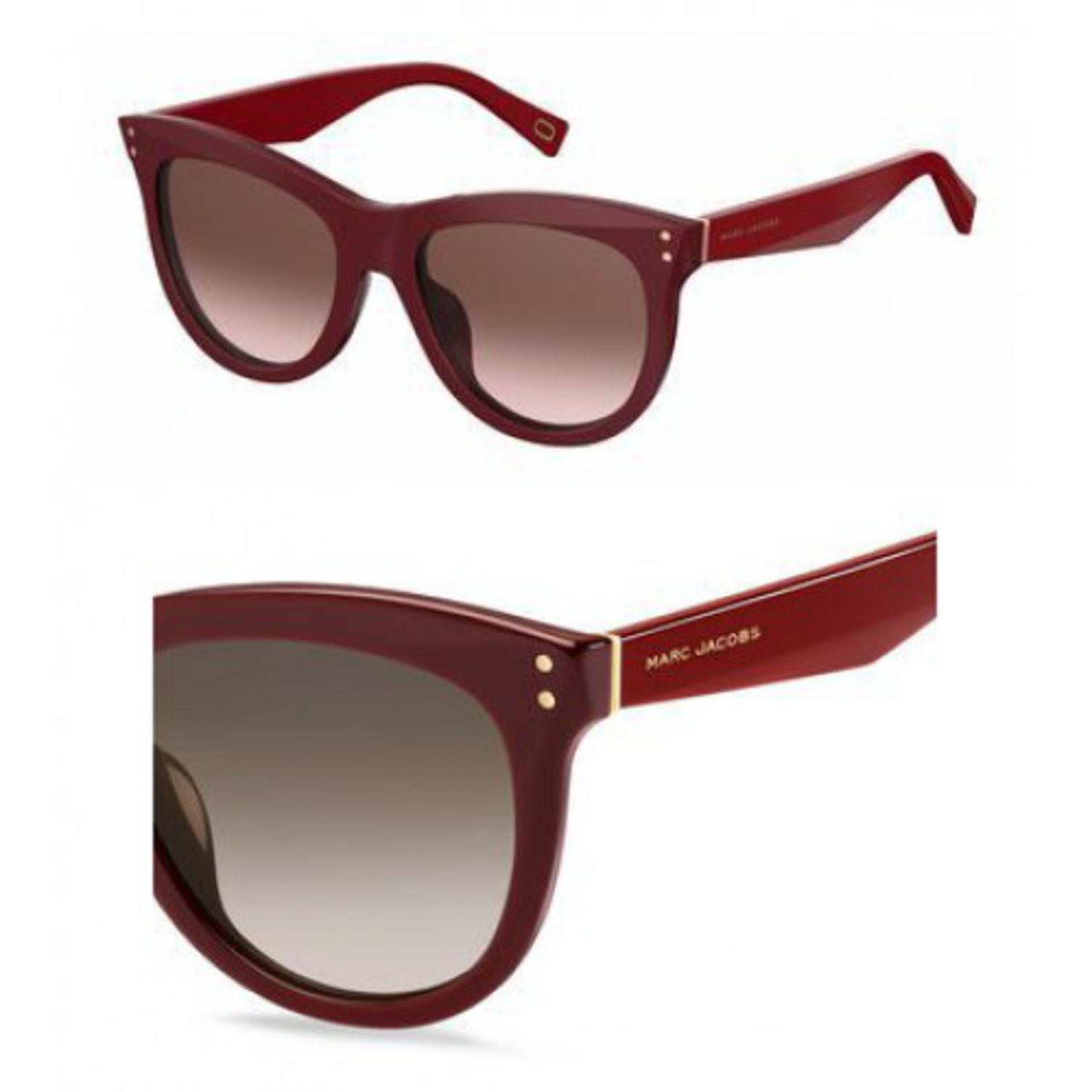 Sunglasses Marc Jacobs 118 /S 0OPE Burgundy / K8 brown gradient lens