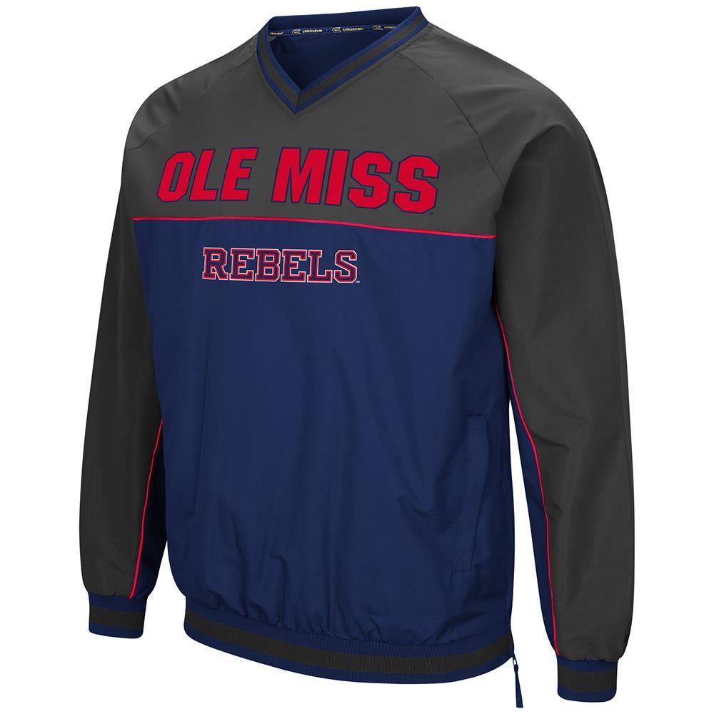 Mens Ole Miss Rebels Windbreaker Jacket M by Colosseum
