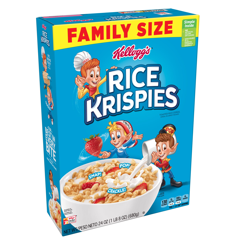 Rice Krispies: Kellogg S Rice Krispies Breakfast Cereal Fat-Free Family