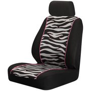 Auto Expressions Zebra with Pink/Black Low Back Seat Cover