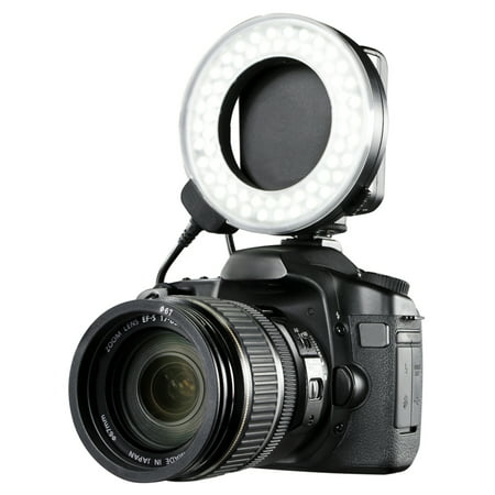 Canon EOS Rebel T6i Dual Macro LED Ring Light / Flash (Applicable For All Canon Lenses)](Flashing Ring)